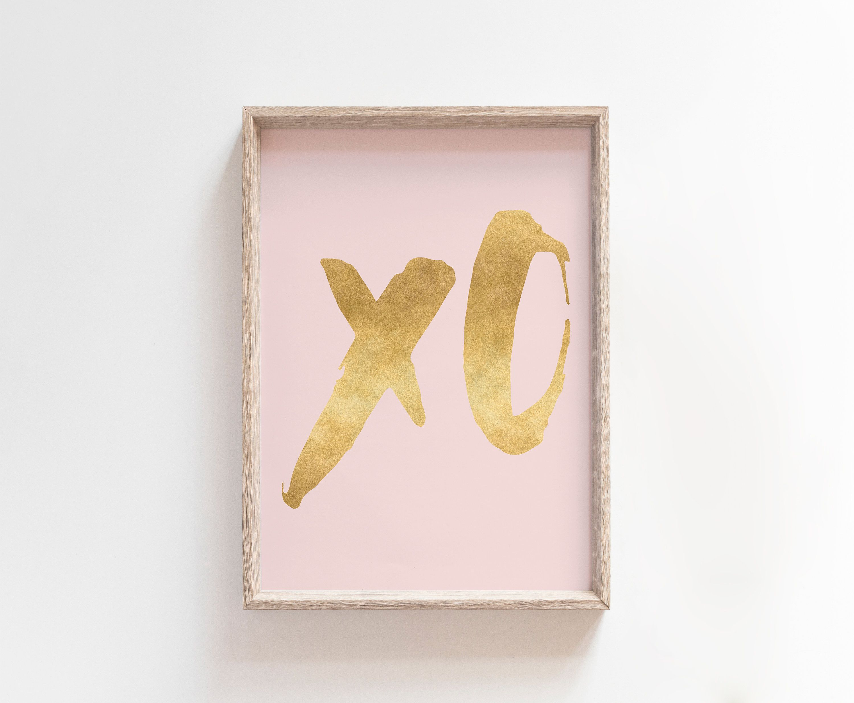 Xo wall print xo print xoxo print xo letters xoxo wall art