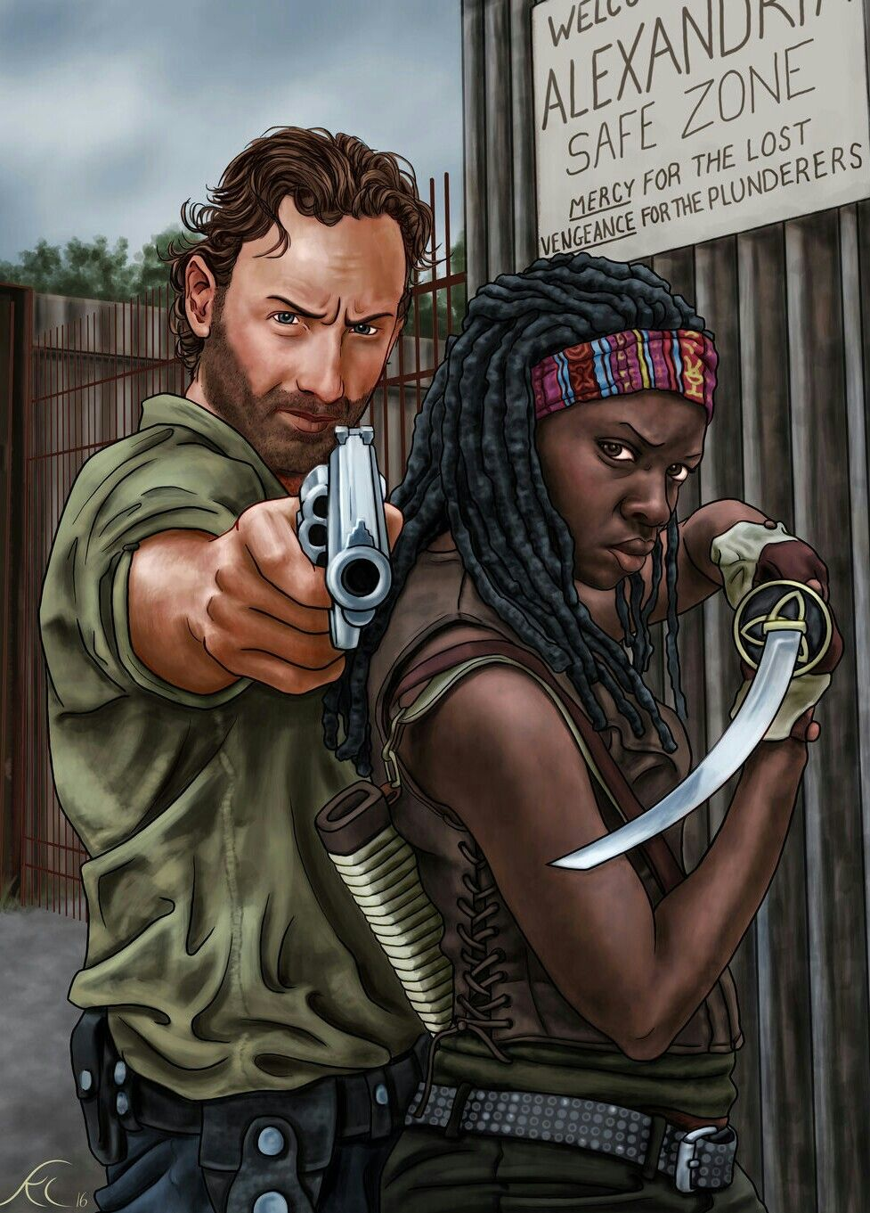 Rick And Michonne Com Imagens The Walking Dead Zumbi The