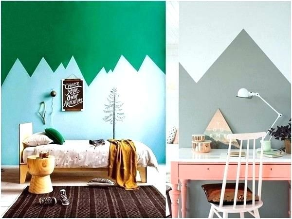 Image Result For Two Walls Different Colors Home Decor Geometric Wall Paint Wall Trends