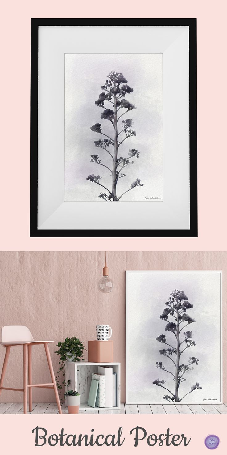 Botanical art print bedroom poster botanical wall art bedroom