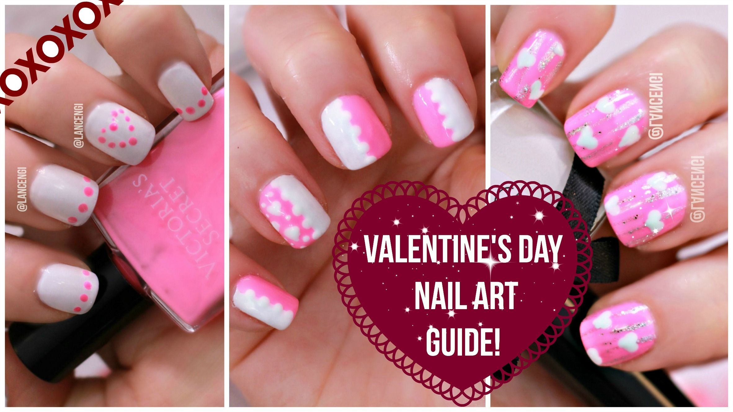 Diy Cute Easy Nail Art For Beginners Best Valentines Day Design