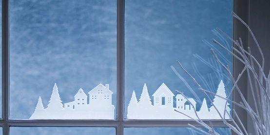 decoracion ventanas navidad - Buscar con Google blanca navidad