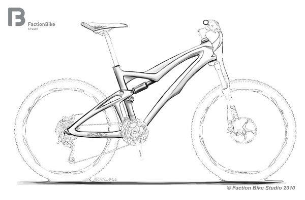 Mountain Bike Drawings