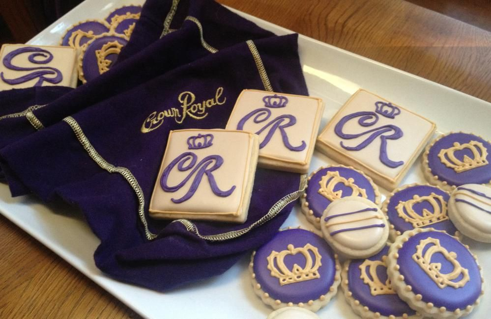 Crown Royal Cookie Bites Cookie Connection Decorated