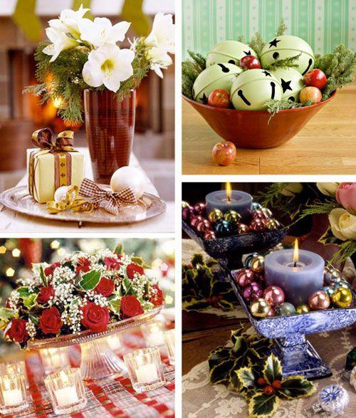 20 Beautiful and Elegant Christmas Centerpiece Ideas Centros de