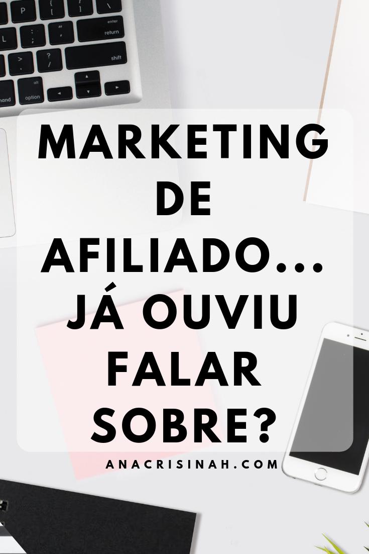 MARKETING DE AFILIADO O QUE É, COMO COMEÇAR...