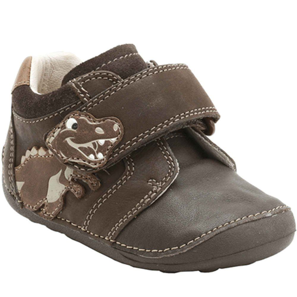 2f80d6ee7ac Clarks First Shoes Saurus Play Cruising Shoes - Brown Leather in Clothes