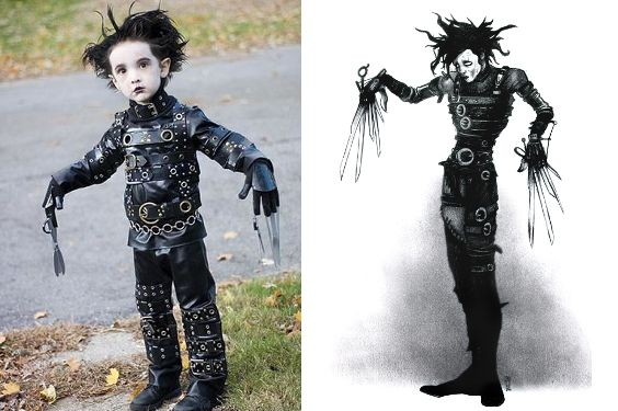 how to make edward scissorhands costume for toddler