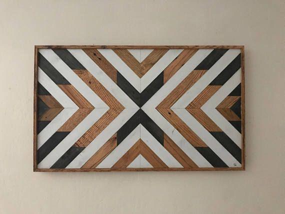 Wood Wall Art - Large Wood Wall Art - Abstract Wood Wall Hanging ...