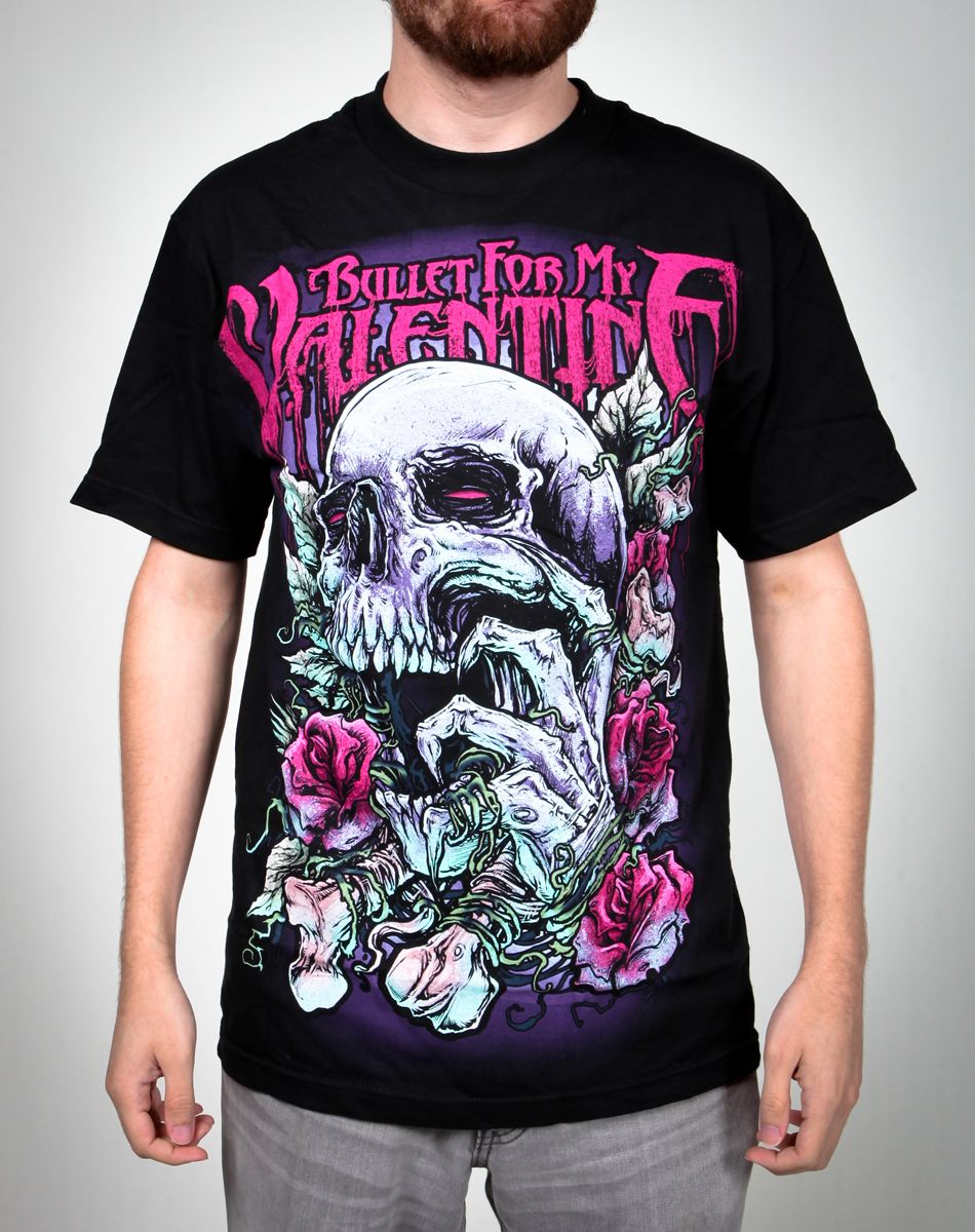 Bullet For My Valentine Skull And Roses Tee 17 99 Rawr I Want