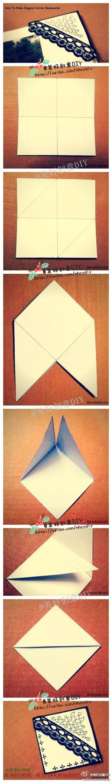 Corner Bookmarks Papier Origami Bricolage Et Loisirs