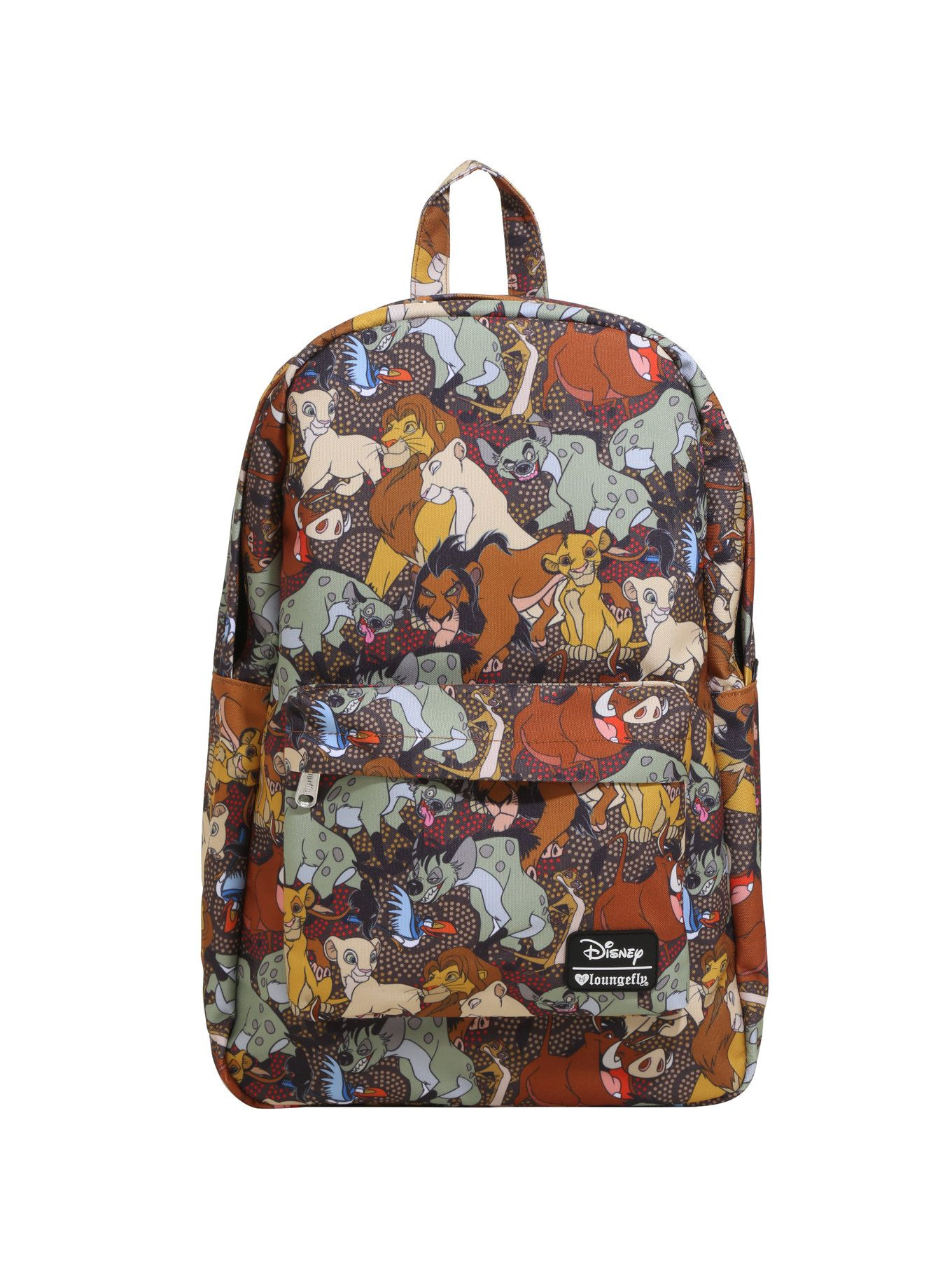 7e407e575d04 Canvas backpack from Disney s  i The Lion King  i  with an allover print  design featuring some of the main characters from the animated classic  including ...