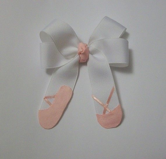 ballet shoe hairbow