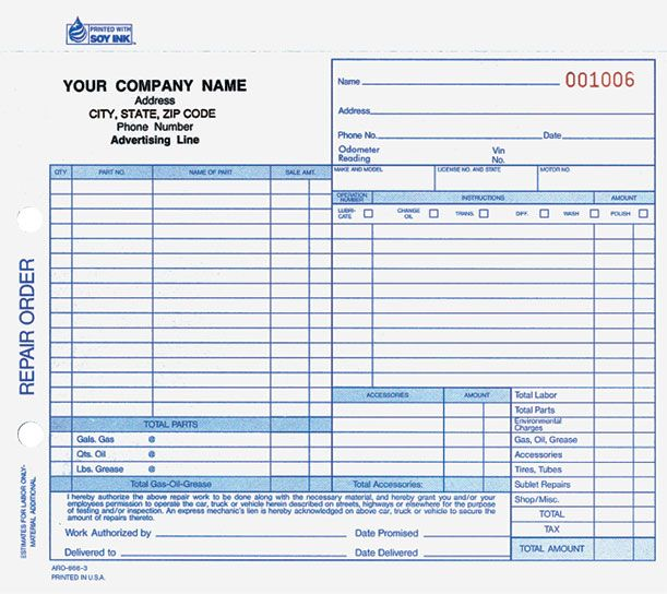 Printable Work Order Forms Forms Manual Forms Manual Forms Snap A Part Auto Repair Order Repair Line Phone Template Printable