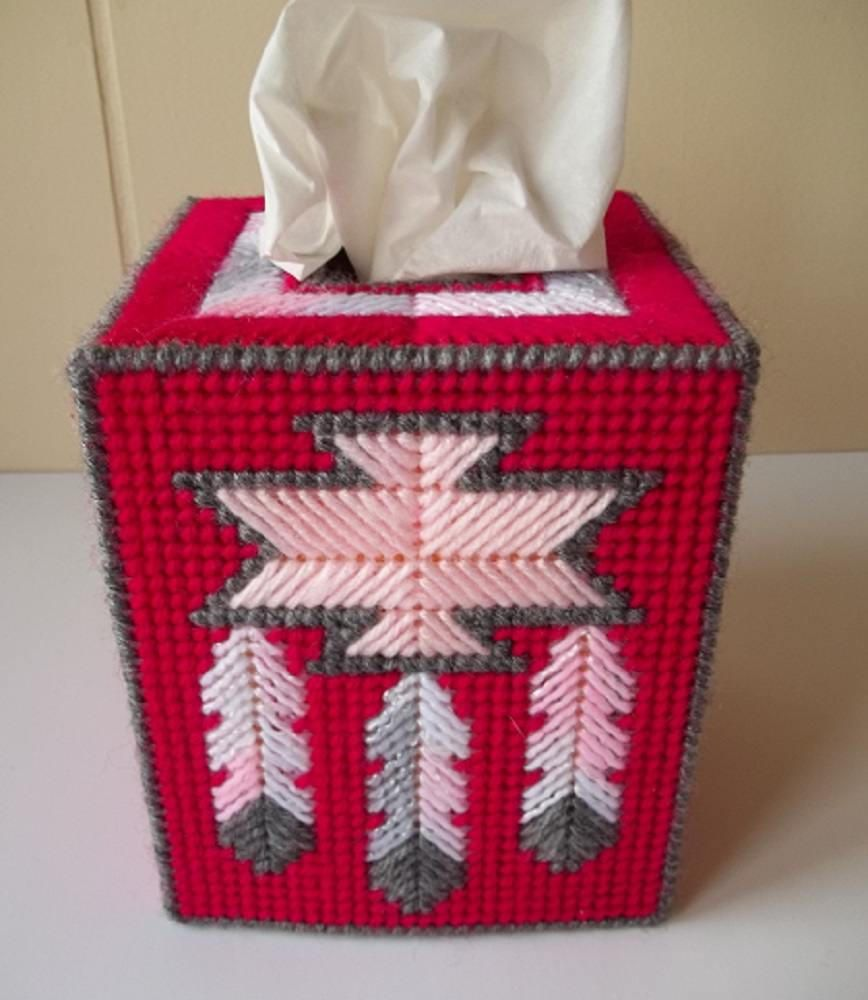 Native American Design Tissue Box Cover, Plastic Canvas Tissue Cover, Home  Decor, Kitchen Decor, Kitchen Accessory, Bath Accessory