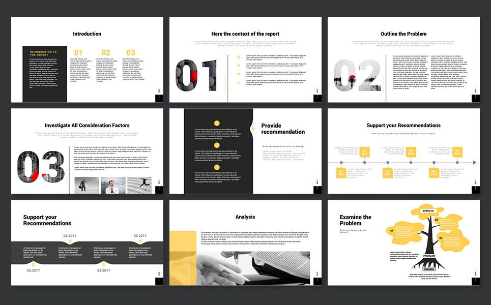 Case Study Report Powerpoint Presentation Template Case Study