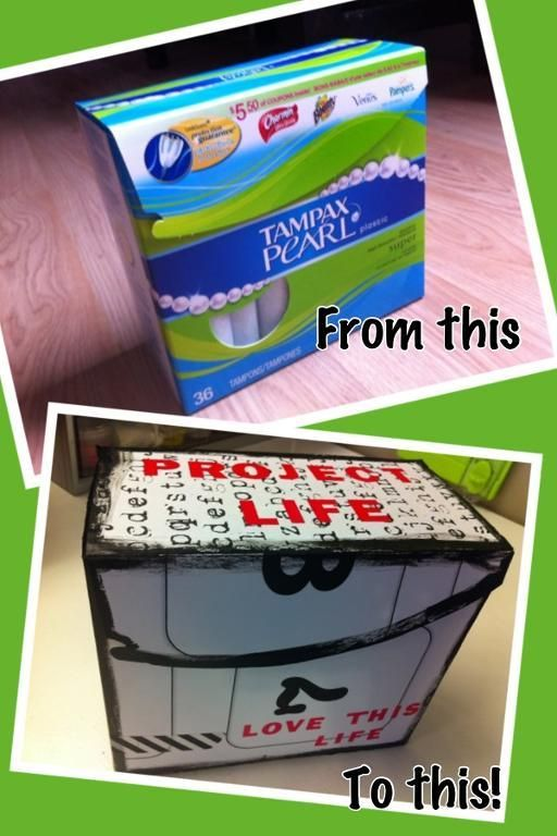 Project Life Tampon Storage Box