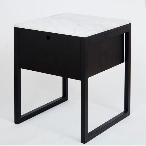 Max Italian Carrara Marble Bedside Table Marble Bedside Tables Black Bedside Table Bedside Table Design