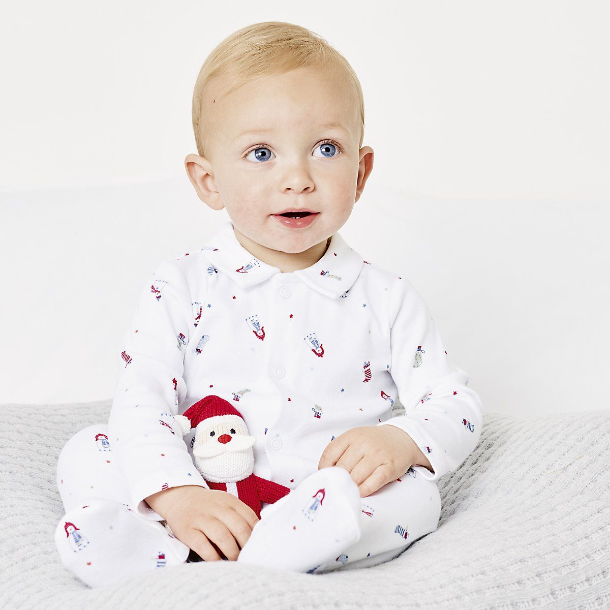 Snowman Collared Sleepsuit | Baby's First Christmas | The
