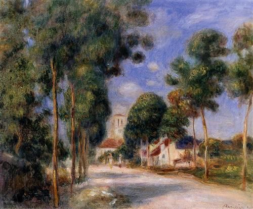 Entering the Village of Essoyes - Pierre-Auguste Renoir / Completion Date: 1901