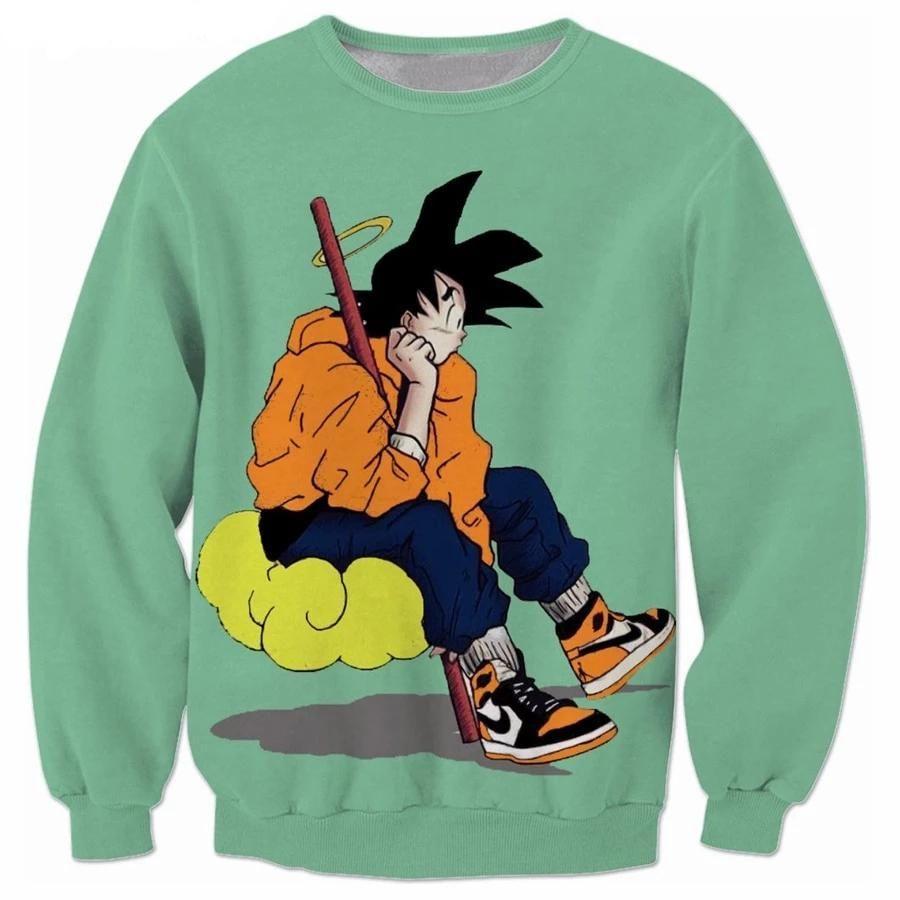 Dragon Ball Z Goku Streetwear Long Sleeved Shirt Long Sleeve Sweatshirts Long Sleeve Outerwear Cool Sweaters