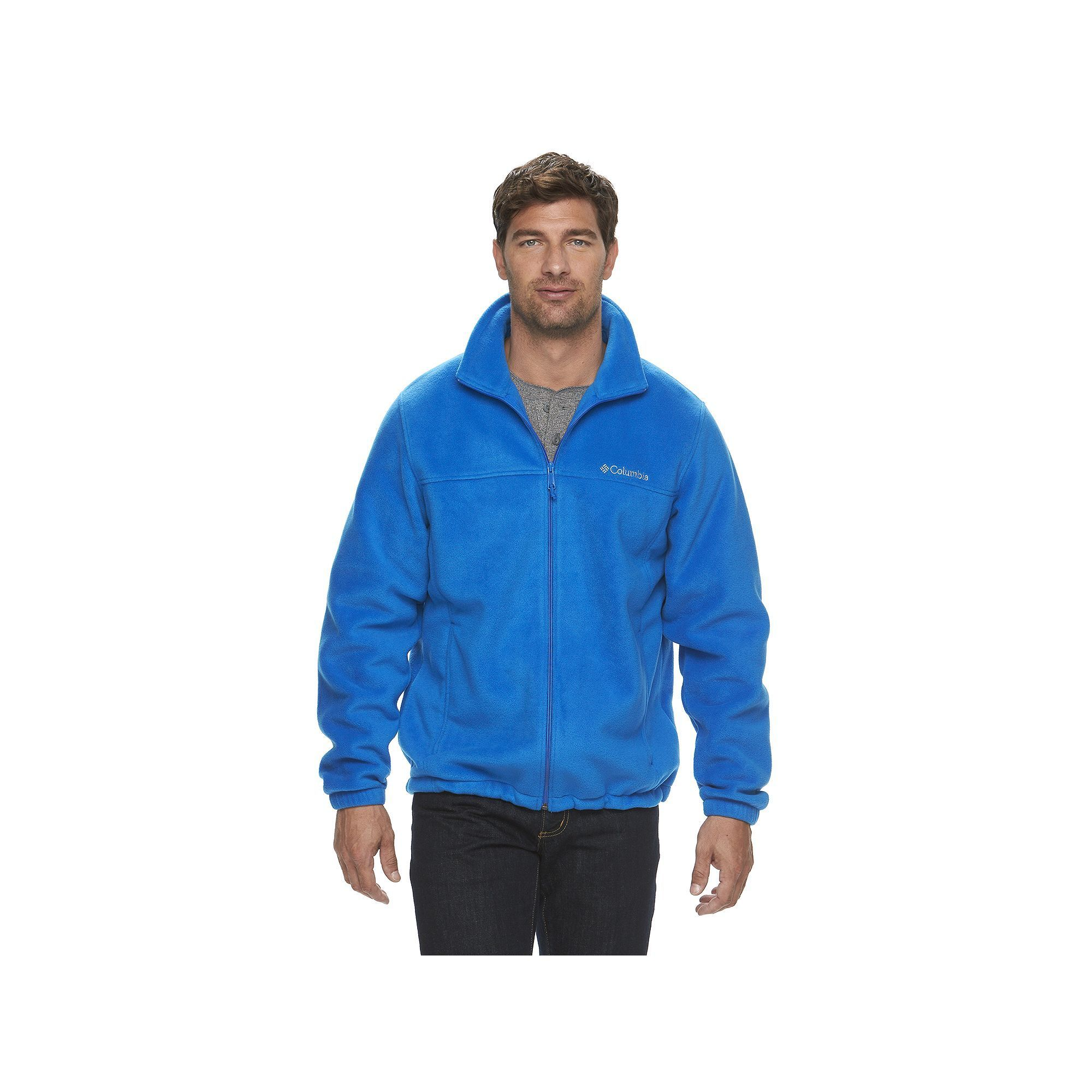 248b665cb29 Men's Columbia Flattop Ridge Fleece Jacket, Size: Small, Brt Blue, Durable