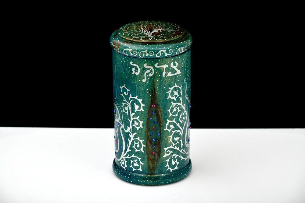 Jewish Wedding Gift: Tzedakah Box. Jewish Wedding Gifts. Tzedakah In Handmade