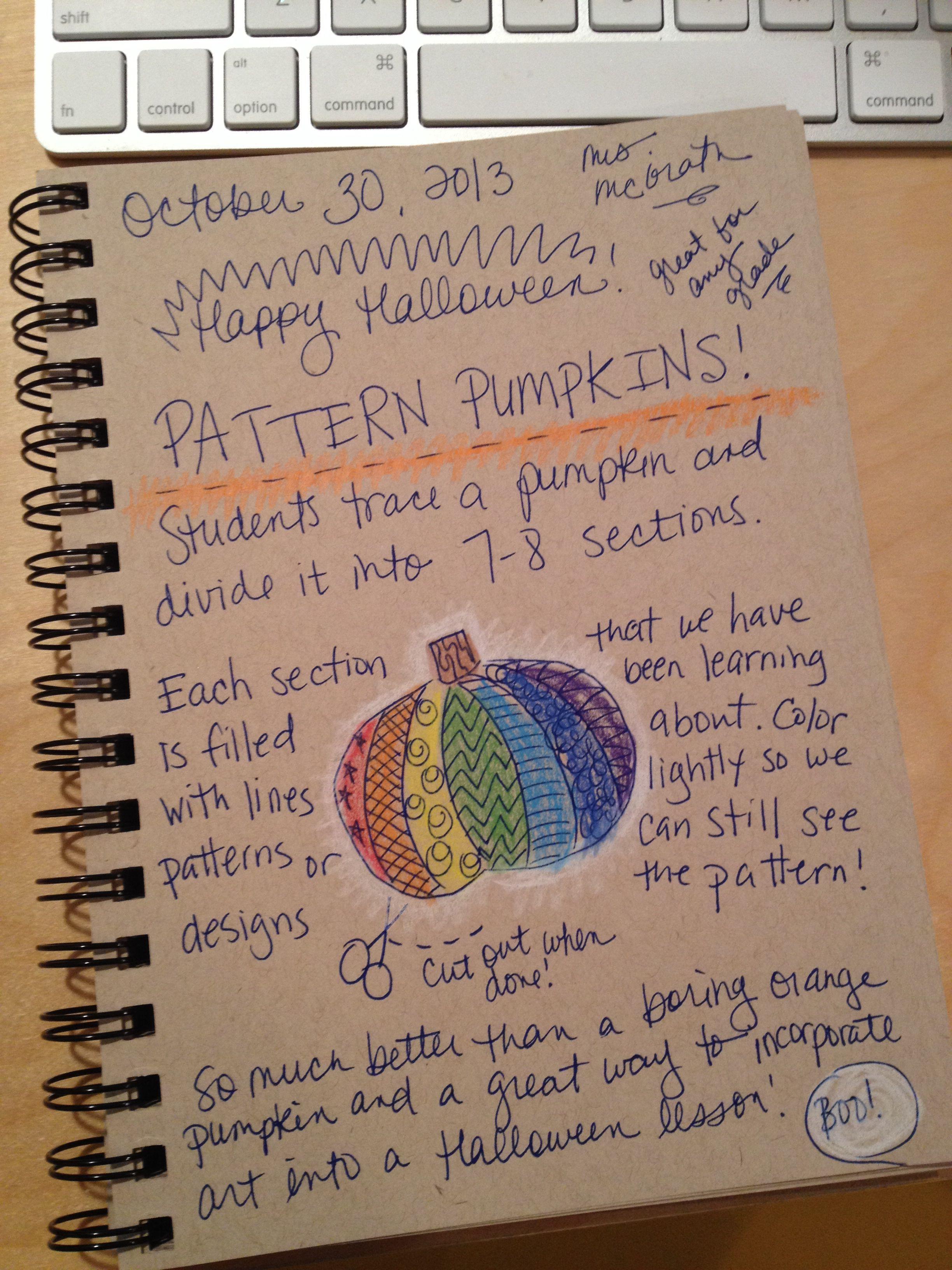 An Art Teacher S Journal Pattern Line Design Pumpkins