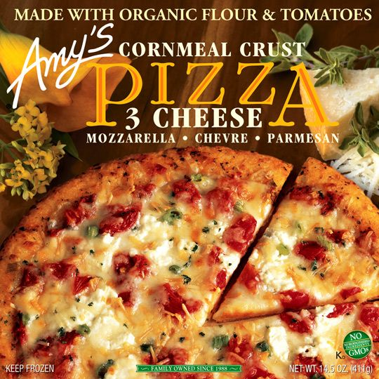 Amy S 3 Cheese Pizza With Cornmeal Crust No Gmos Great Oven