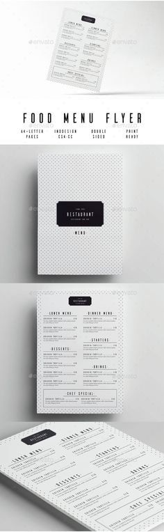 Minimal Food Menu Food menu, Food menu template and Menu templates - Cafe Menu Template