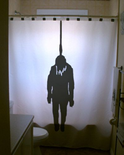 Attractive Halloween Hangman Shower Curtain Hanged Man Hanging Noose Horror Scary  Bathroom Decor Kids Bath