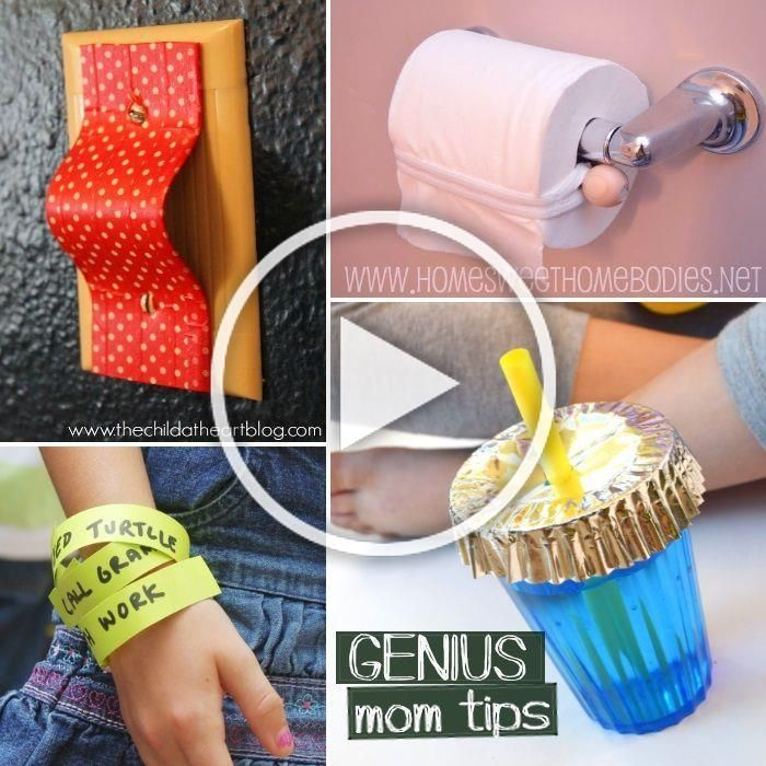 Genius hacks for moms: 30 Genius Mom Tricks May 26, 2015 by Rachel Moms, we all have tips that have rocked our worlds with their simplicity and usefulness. Here are just a few of the tips we have discovered. If you know of a tip we missed, PLEASE, come to #geniusmomtricks