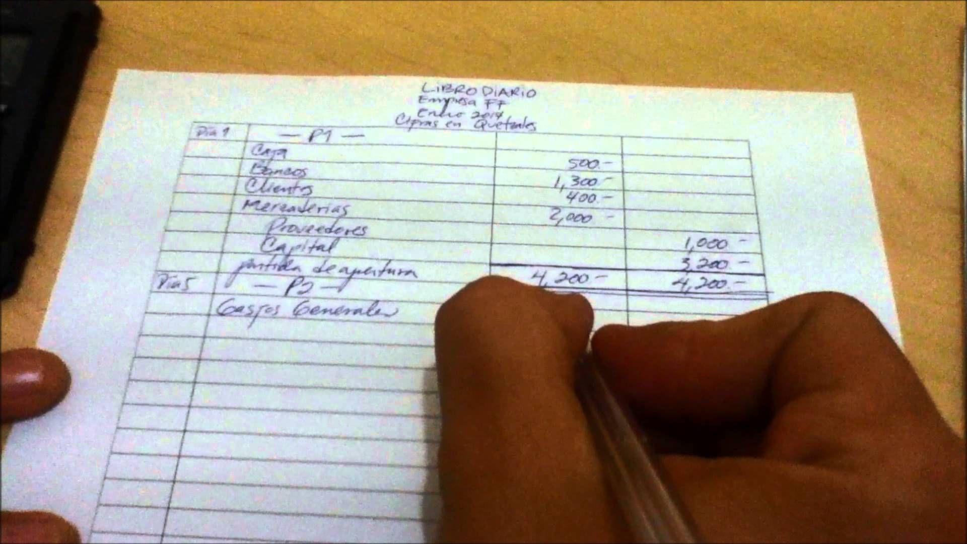 Contabilidad El Libro Diario 3o Básico Primera Unidad Ejercicio 1 Ejercicios De Contabilidad Contabilidad Libro Diario Contabilidad