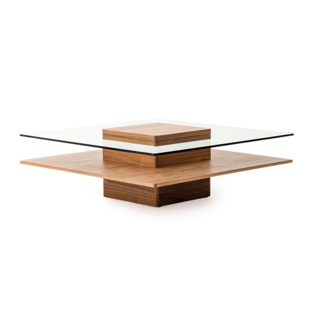 Square Coffee Table Piatto By Mobilia Tempered Glass Top
