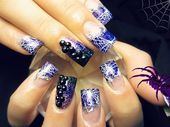 Photo of Webs of color  Nail Art Gallery by NAILS Magazine