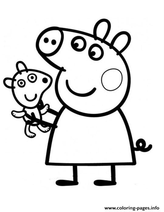 Print pretty peppa pig coloring pages | diy | Pinterest | Dibujos ...