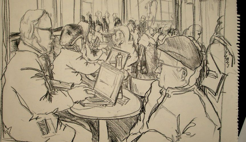 Urban Drawing 1 Starbucks By Stevensmithart On Deviantart Urban