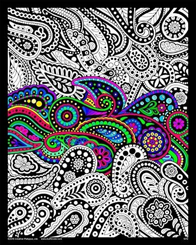 Paisley - 16x20 Fuzzy Velvet Coloring Poster Stuff2Color ...