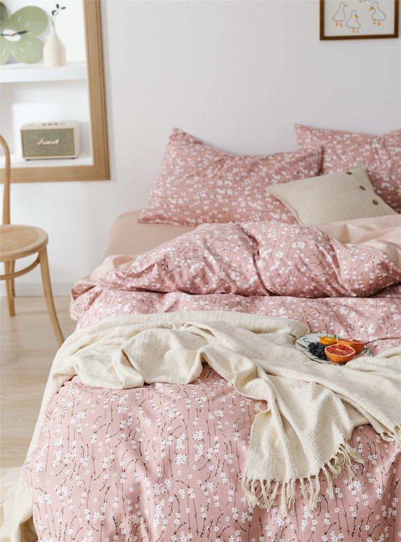 Cotton Duvet Cover Set White Floral Bedding Set Bedding Set Etsy In 2020 Duvet Cover Sets Floral Bedding Sets Cotton Duvet Cover