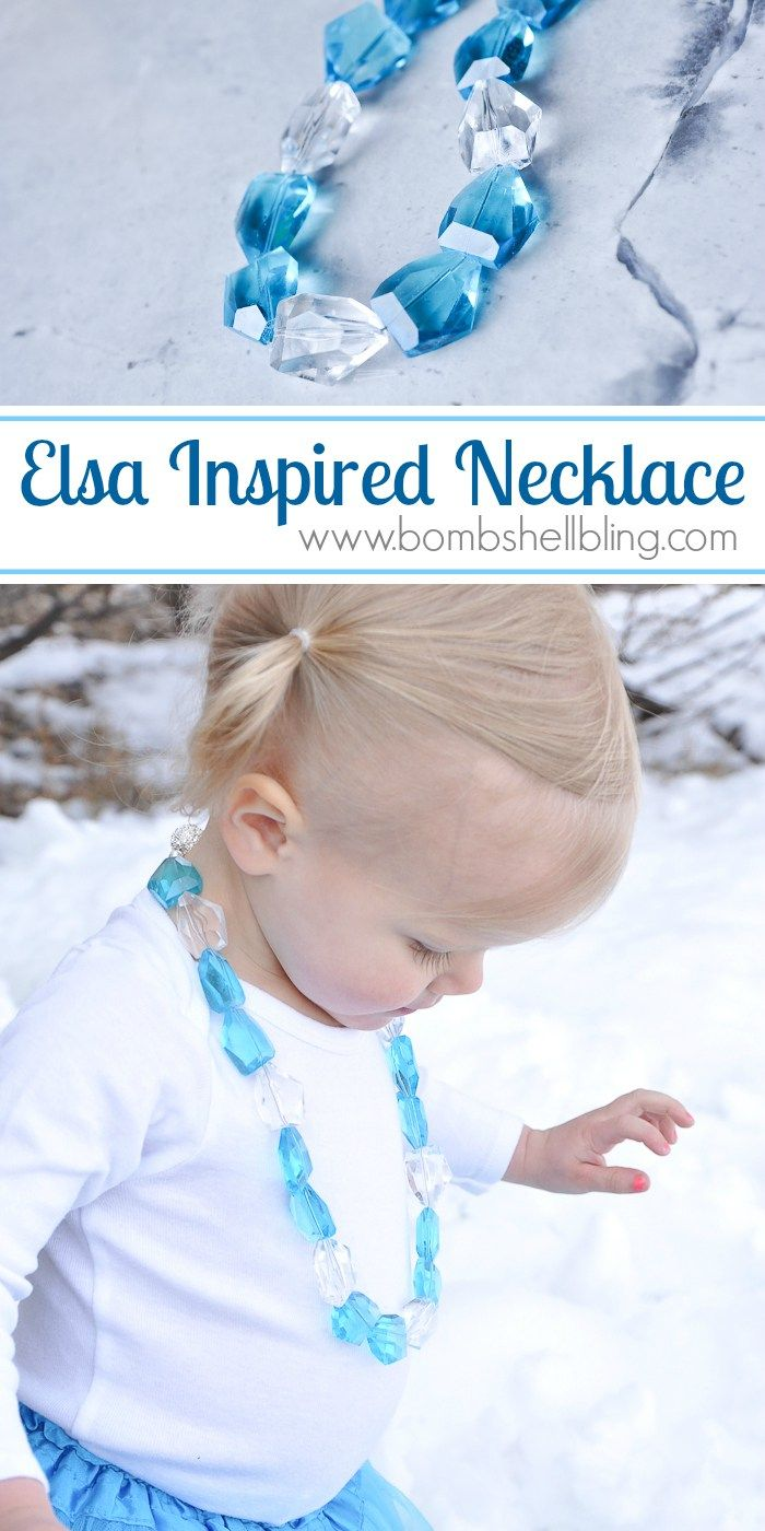 Make your little princess an Elsa Frozen Inspired Necklace with this