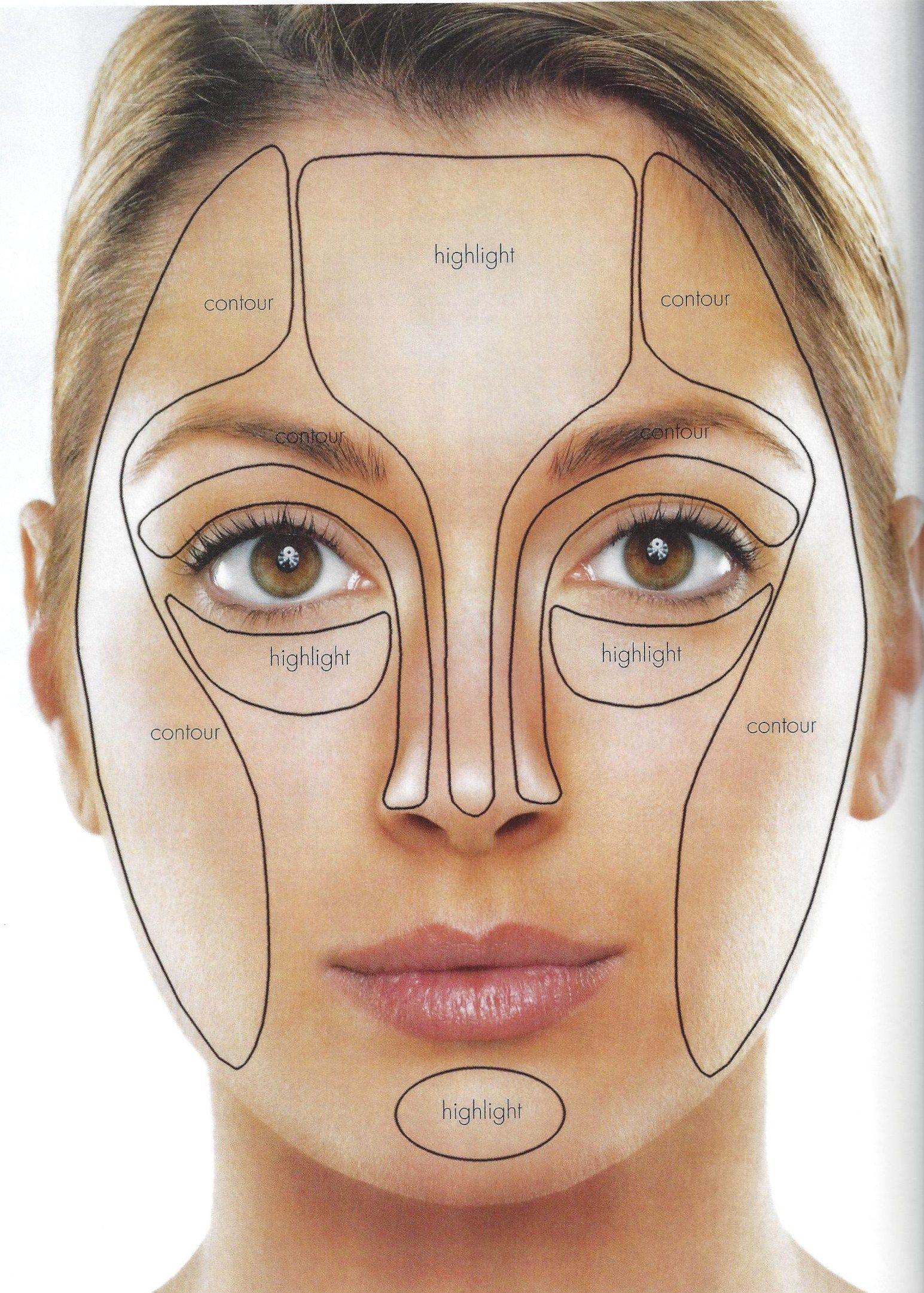 oblong face Google Search Contour makeup, Contouring