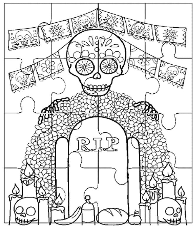 Materiales Educativos Digitales Para El Día De Muertos Maprim Actividades Día De Muertos Dia De Muertos Altar De Muertos Dibujo