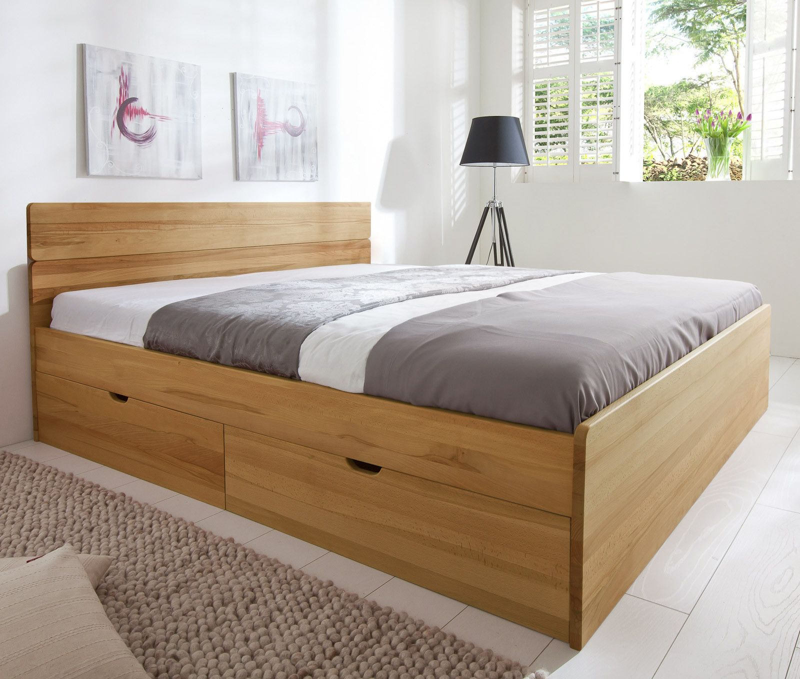 Betten Mit Stauraum Holz