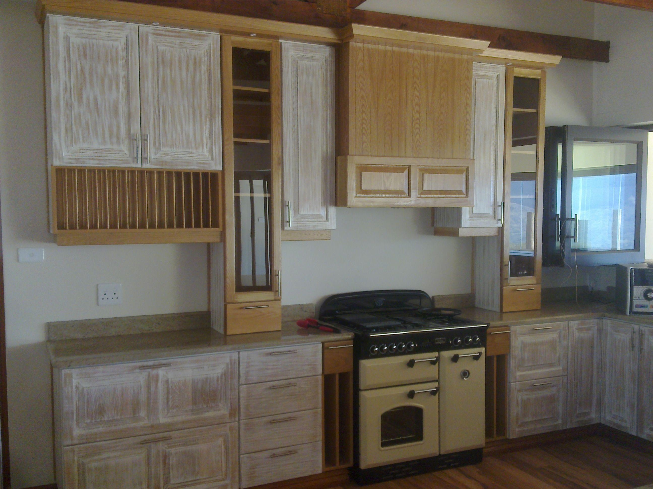 Oak whitewash kitchens pinterest