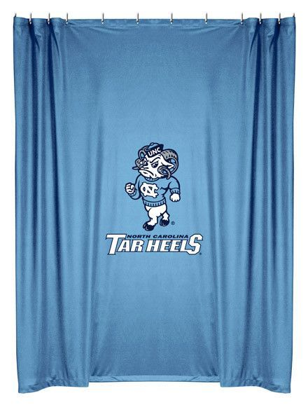 North Carolina Tar Heels Shower Curtain With Images North