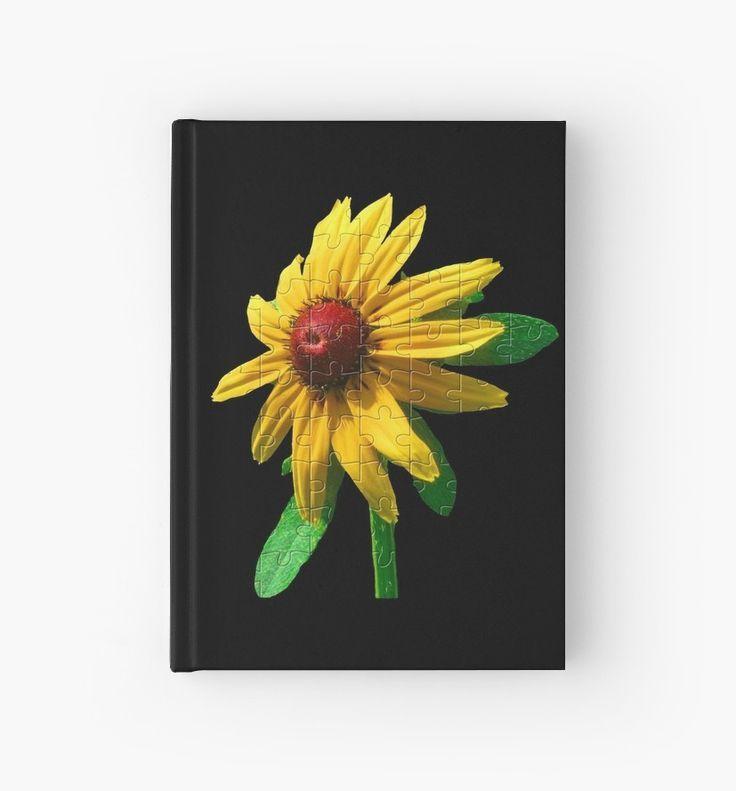 Notebook  unique floral puzzle yellow sun hat Notebook  unique floral puzzle yellow sun hat