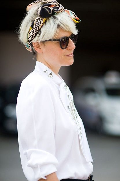 Hair Scarf Thumbs Up Or Down Scarf Hairstyles Headbands For Short Hair Trendy Short Haircuts