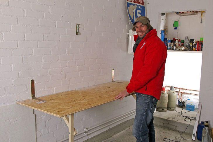 bauanleitung klapp werkbank f r enge garagen werkstatt werkbank garage werkstatt. Black Bedroom Furniture Sets. Home Design Ideas