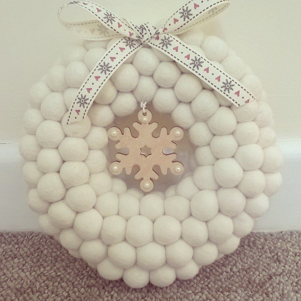 Our Christmas felt ball wreaths prove popular year on year. Our wreaths can be made using plain ...