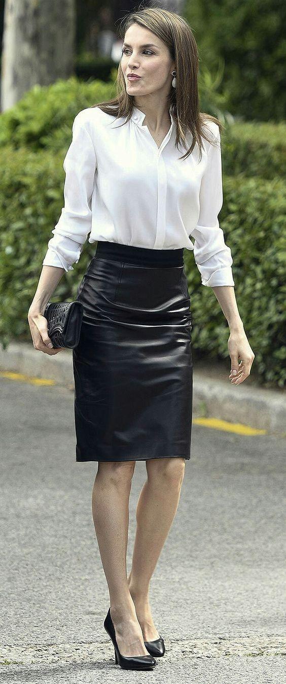 Pvc Skirt Spanking  Black
